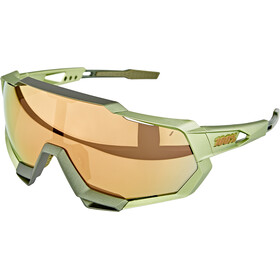100% Speedtrap Okulary, matte metallic viperidae/bronze mirror